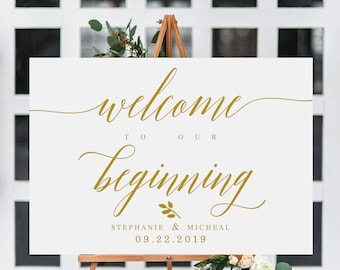 elegant welcome to the wedding sign template welcome wedding