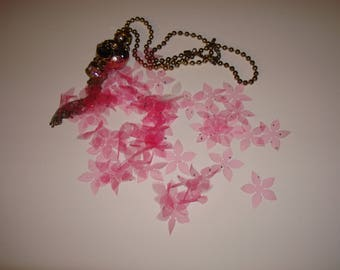 Set of flower 1789 in tulle with glitter wired