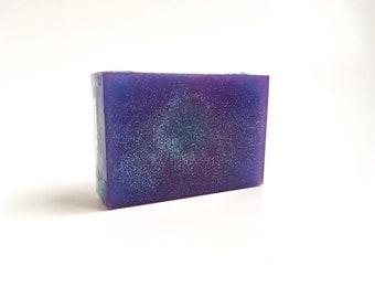 Galaxy Soap, Space Soap, Nebula Soap, Blackberry Vanilla Soap, Glitter Soap,