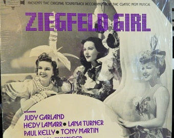 "ZIEGFELD Girl 12"" Vinyl Lp MINT 1941 Original Soundtrack in Limited 1970s Release; Judy Garland, Tony Martin, Charles Winninger; Collectible"