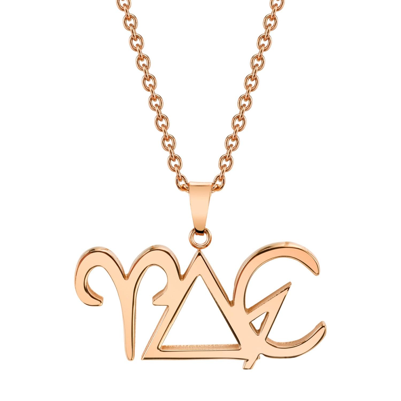 Aries zodiac necklace fire element spring alchemy symbol zoom biocorpaavc