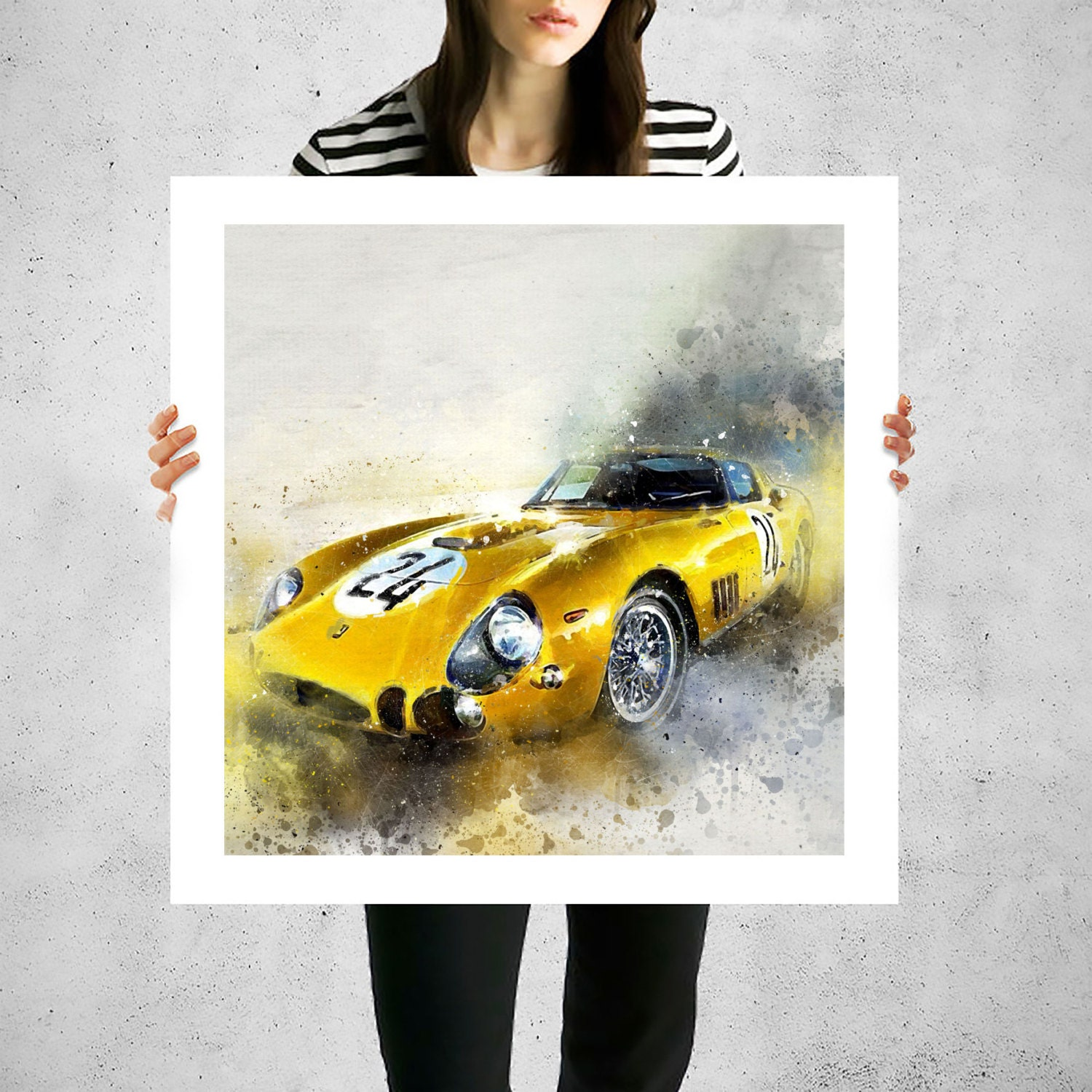 Ferrari 250 GTO large wall paintings canvas art work