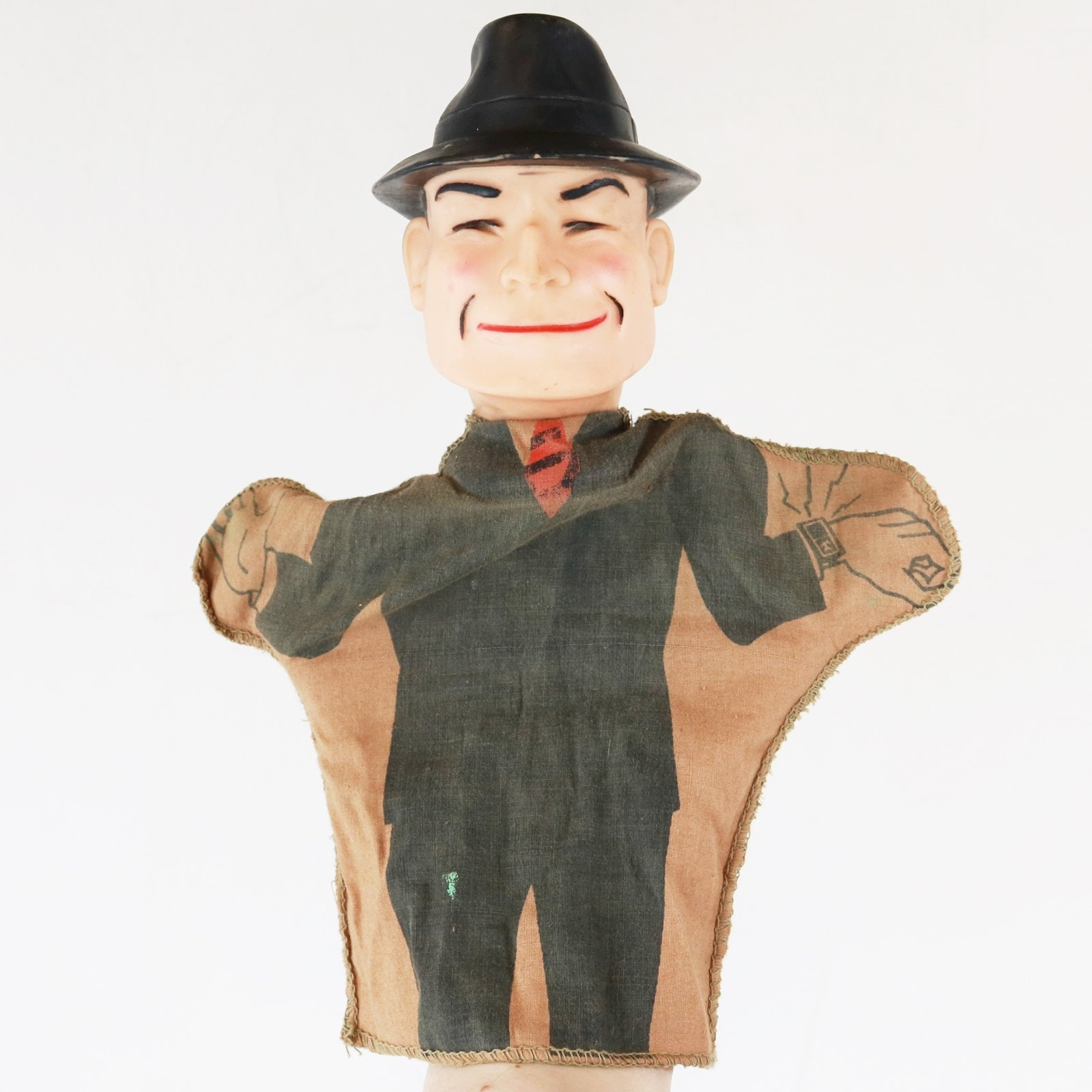Jahrgang 1961 Dick Tracy Hand Puppet Chicago Tribüne NY
