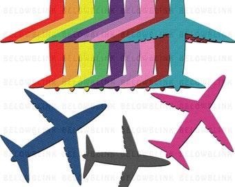 Airplane Clipart, Clip Art, Digital Scrapbooking, Commercial Use, Transportation Clip Art, Plane Clipart - Instant Download  - DP337