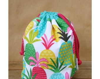 Kids insulated lunch sack - Pineapples