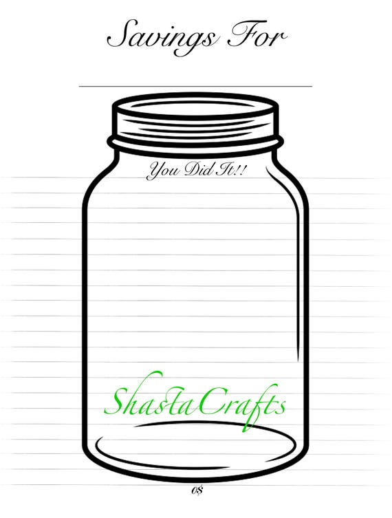 It is a graphic of Impeccable Savings Jar Printable