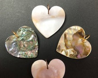 Mother of Pearl Hearts