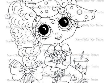 INSTANT DOWNLOAD Digital Digi Stamps Big Eye Big Head Dolls Digi  My Besties IMG122 By Sherri Baldy