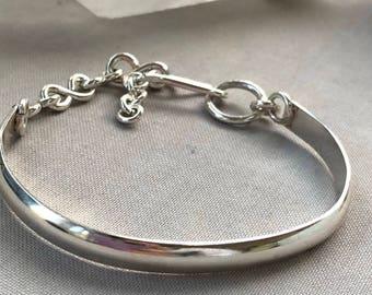 Sterling Silver Bracelet/ Simple Sterling Bracelet/ Silver Bracelet/ Artisan Bracelet/ Minimalist Bracelet/ Contemporary bracelet/ Christmas