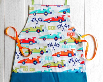 boy pattern apron formula 1... perfect for a future top chef