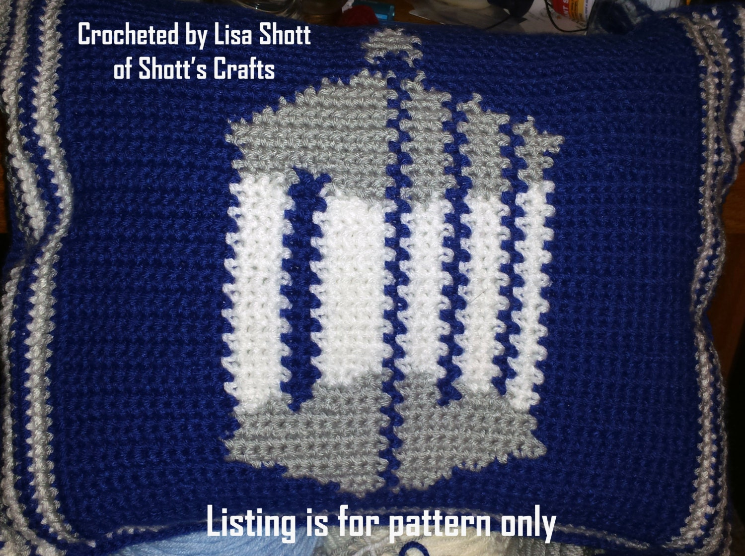 Doctor Who Tardis Logo 12 Square Pattern Graph for