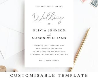 ultimate diy wedding invite template bundle of 10 different