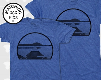 Matching Dad and Me Shirts - Canoe