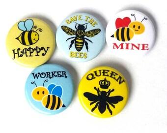 Save the Bees 5 pin set