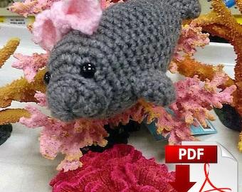 Barbara Manatee Crochet Pattern PDF