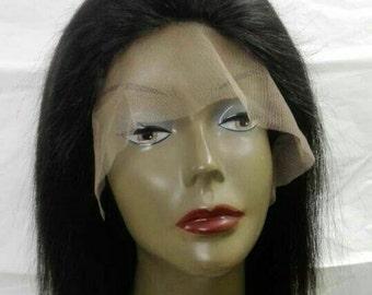 Handmade human hair wig