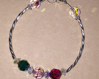 Crystal birthstone bracelet
