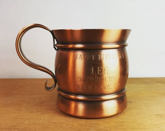 Vintage Georgian Copper Mug