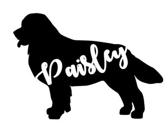 Dog Name Silhouette Decals