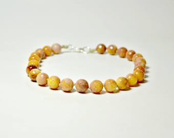 Yellow Necklace, Statement Necklace, Brown Necklace, Unique Necklace, Beaded Necklace, Handmade Necklace, Evening Necklace, Short Necklace