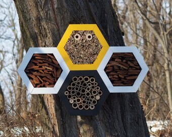 BEE HOTEL, Insect house, Mason bee home - Palacehotel Honeybee