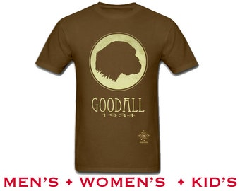 Jane Goodall Tshirt. Rock Star Scientist Shirt, Anthropology Illustration, Monkey Chimpanzee, Anthropologist Primatologist, Women in Science