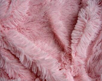 Third Yard Minky Shag - Baby Pink