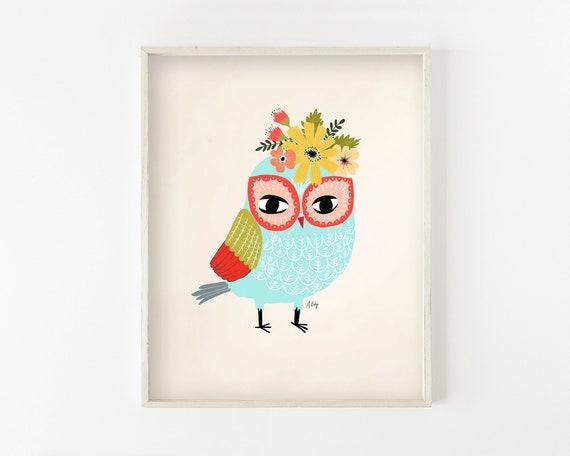 """Helga Owl"" - wall art print"