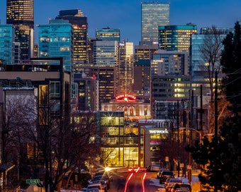 Photo Art - City Skyline Photography - Denver