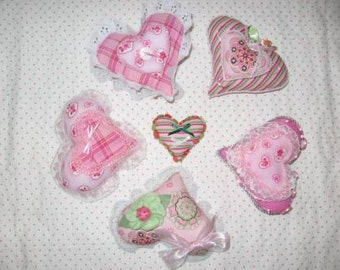 Valentine Heart Shaped Ornaments Mailed Paper Pattern by Sew Practical, Mom and Pop Craft
