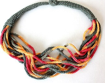 Knitting Pattern (PDF file) Necklace SunShine Accessory