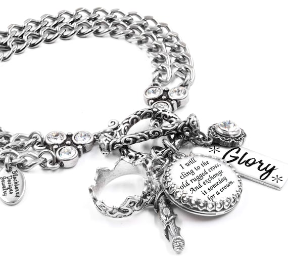 Christian Bracelet Religious Charm Bracelet Hymn Bracelet