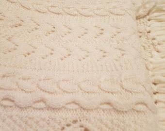 Hand spun merino shawl