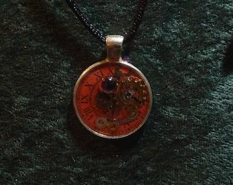 Clock of Fate Charm | Resin Pendant