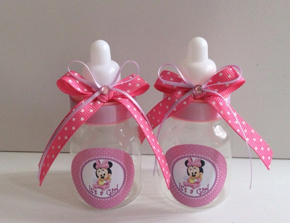 12 Small 35 Minnie Mouse Baby Shower Favors In Pink And