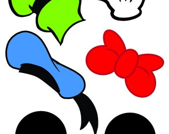 Mickey Mouse Photo Booth Props, Mickey Mouse Birthday Photo Booth Prop Instant Download