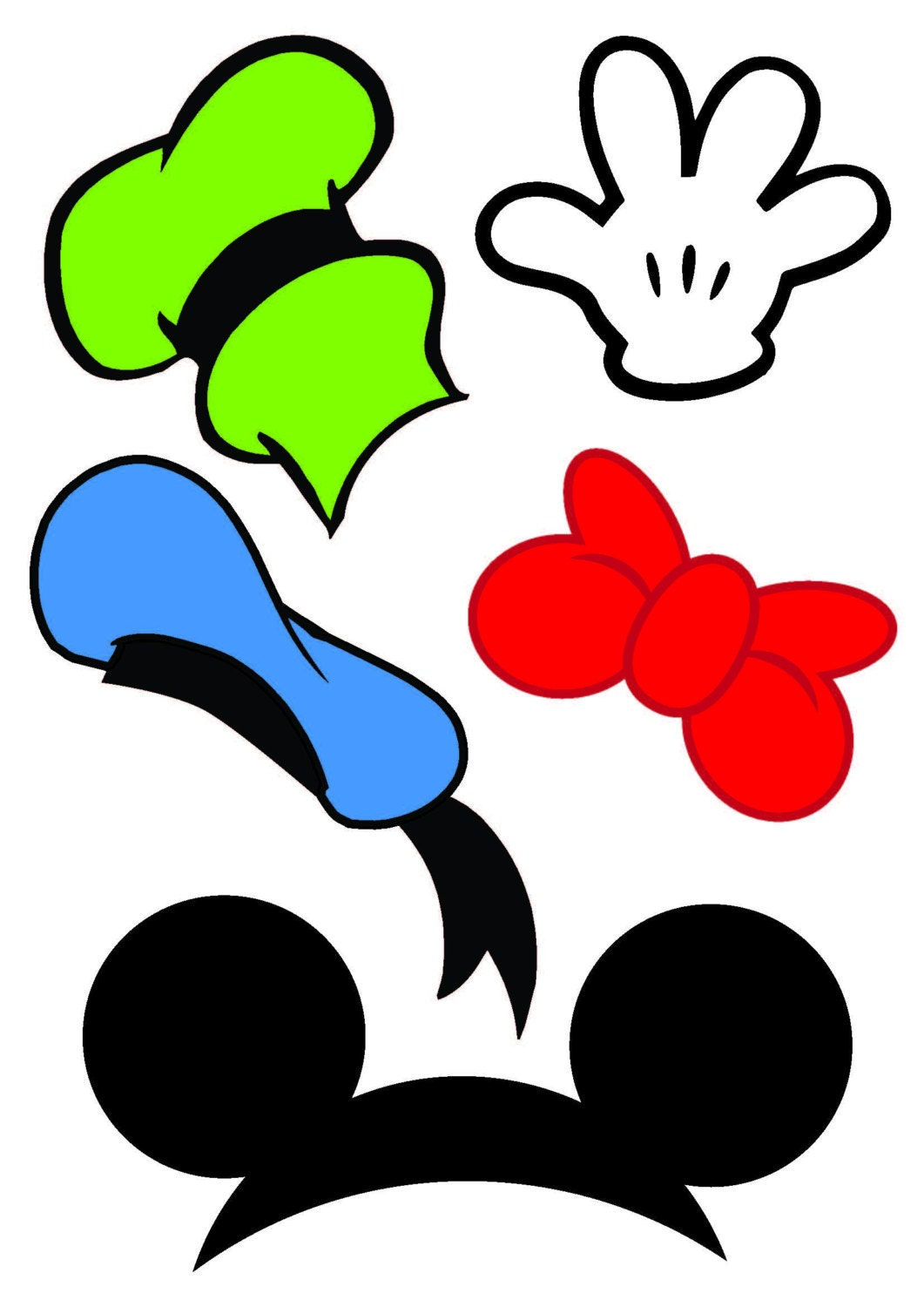 Mickey mouse photo booth props mickey mouse birthday photo for Cabina del mickey