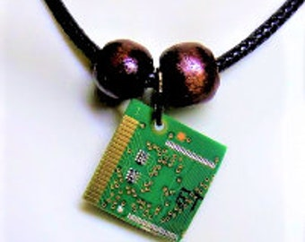 IT gift - circuit board necklace - techie - Geek gift ideas -  Computer Tech gifts  - Circuit bord jewelry, couples jewelry, mens jewelry,