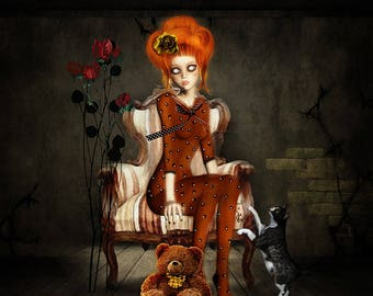 """"""""""" Limited edition signed and numbered: Gothic vintage Retro """"format 20 x 20"""""""
