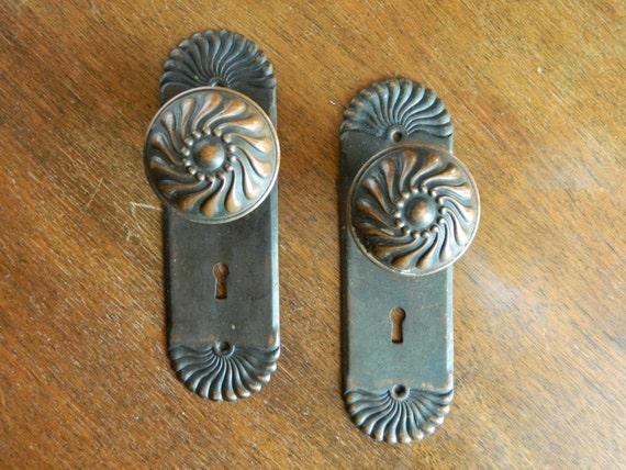 Complete Set, Fan Style Victorian Doorknobs Door knob Set Victorian ...