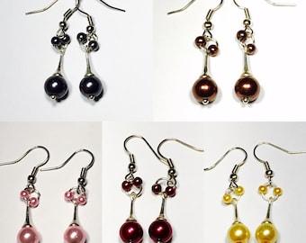 """Gamma"" earrings, Swarovski pearls, Swarovski"