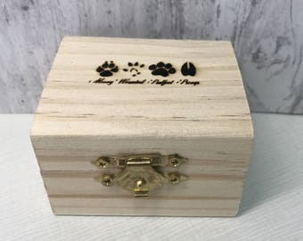 Small Marauders, Moony, Wormtail, Padfoot and Prongs, Laser Engraved Gift Box, 'I Solemnly Swear that I am up to no good' inside (BOX ONLY)