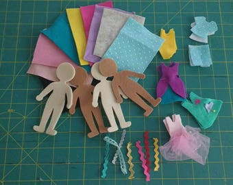 Nursery and mat kit to make rag dolls and clothes