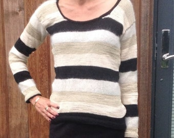 DIY Knitting Pattern for Sweater with Stripes
