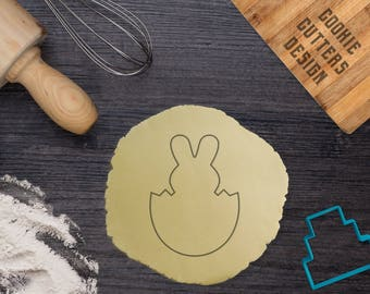 Bunny in egg cookie cutter / Easter cookie cutter / bunny cookie cutter