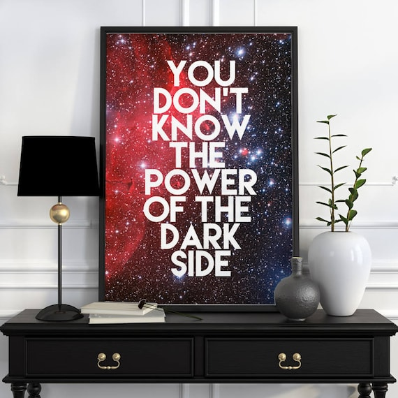 Star wars inspirational poster Wall Art- Star wars quote Art, Giclee Poster, home and living Geek art TYQ200WA3