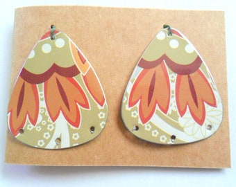 Upcycled Decorative Tin Earring Findings Pair