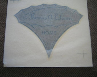 Edison Record Players  Vintage Decal HOME
