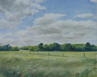 Suffolk landscape, Summer Fields In Suffolk