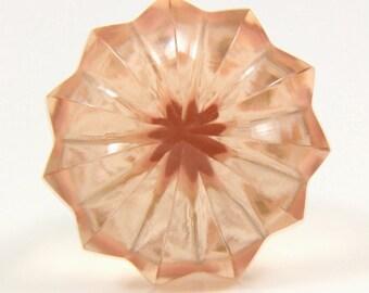 Peachy pink glass umbrella knob 3.6cm PNK014